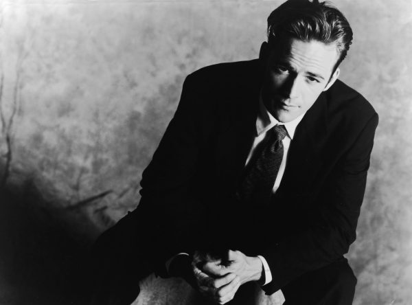 Promotional studio portrait of American actor Luke Perry