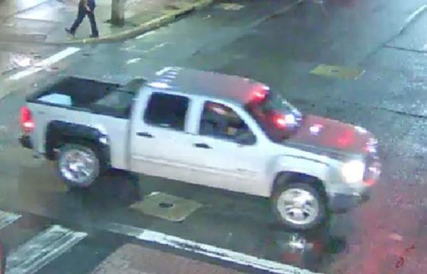 The truck allegedly used in a knife-point rape