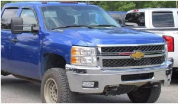 A likeness of the blue Chevy truck