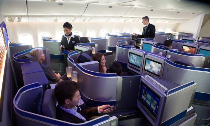 United Airlines' Polaris Cabin in a file photo. (United Airlines)