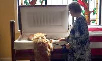 Dog Leans Over Beloved Owner's Casket, How He Bids Farewell Has Everyone in Tears