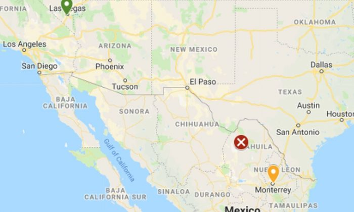 Fourteen people are dead after a plane leaving Las Vegas crashed in northern Mexico, according to reports. (Google Maps)