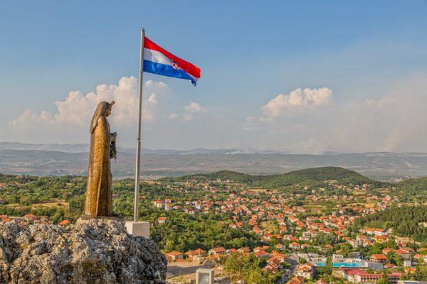 our lady of sinj statue in sinj croatia