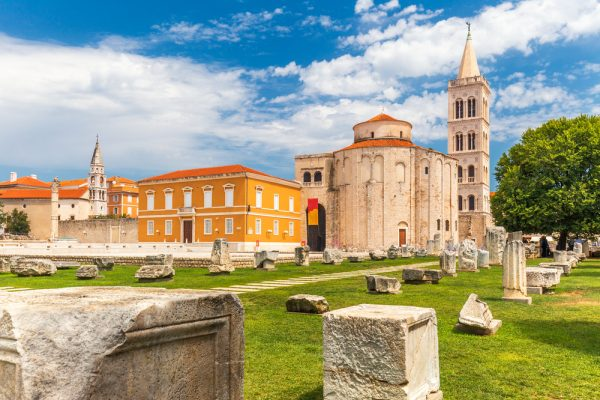roman ruins in old town zadar croatia