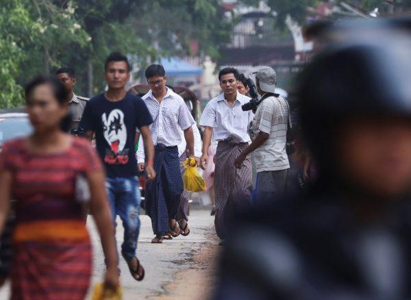Reuters reporters in Burma