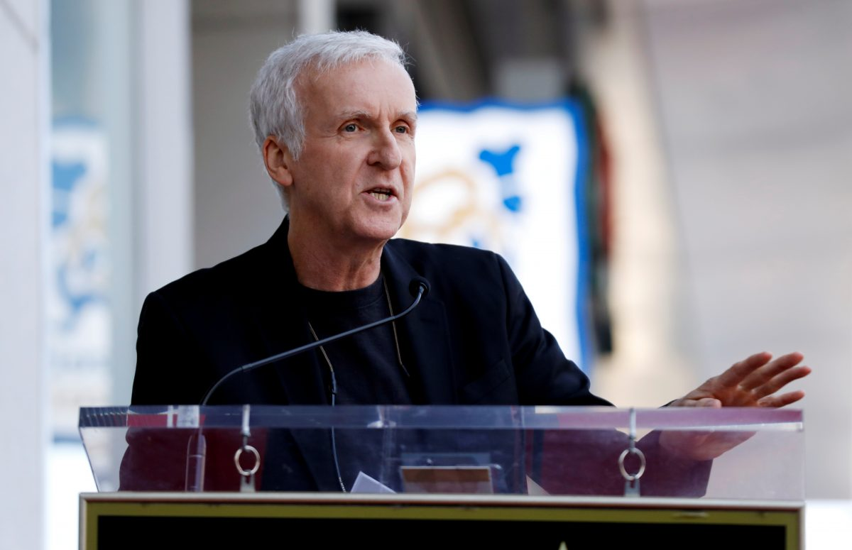 FILE PHOTO: James Cameron speaks during the ceremony for the unveiling of Zoe Saldana's star on the Hollywood Walk of Fame in Los Angeles