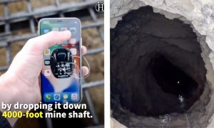 Crazy Tech Blogger Drops a iPhone X Down a Mine Shaft