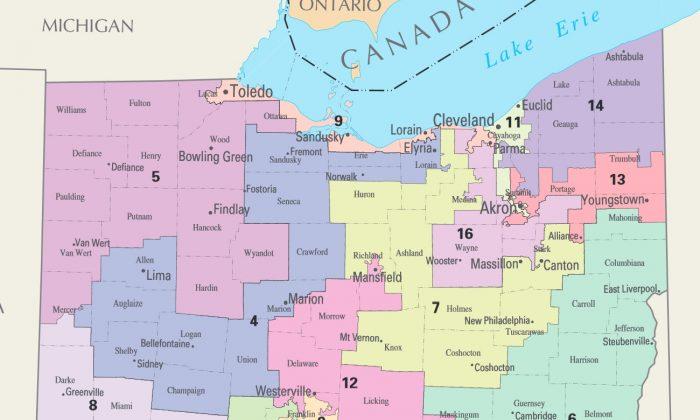 Ohio Congressional Districts. (Public Domain)