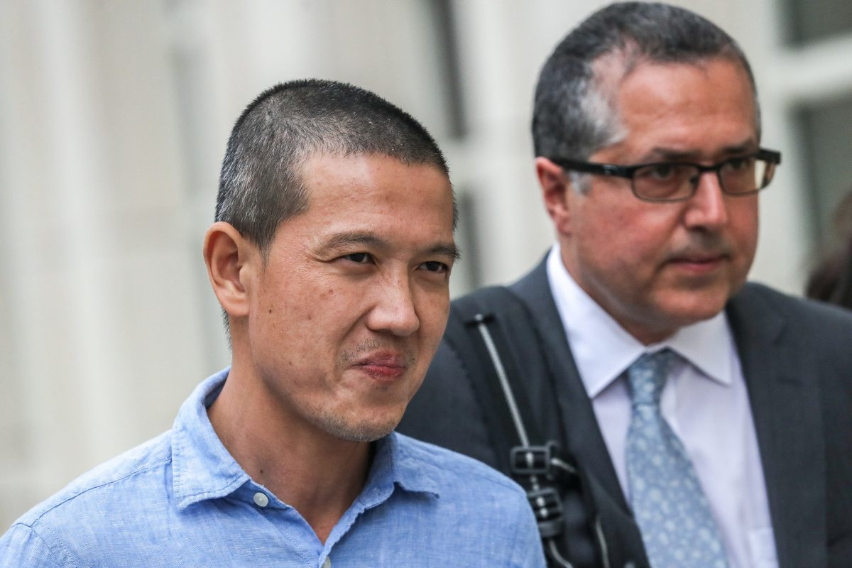 Ex-Goldman Sachs banker Roger Ng leaves the federal court in New York