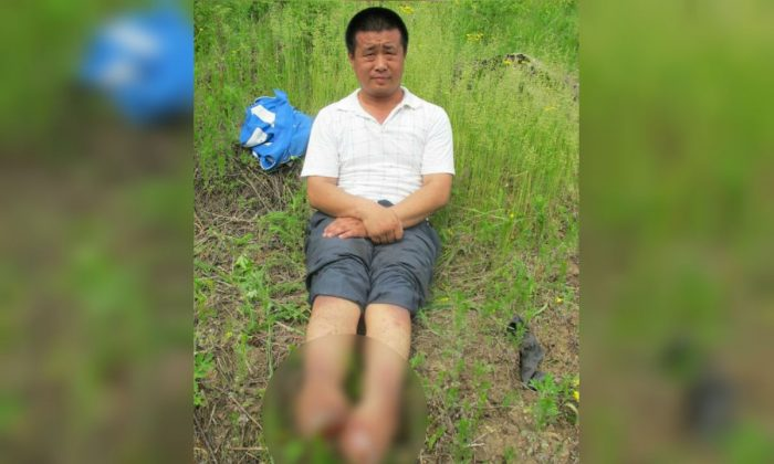 An undated photo of Wang Xinchun who had to have his feet amputated after being tortured by Chinese police in 2002. He died in China on April 23, 2019 after suffering years of torture and abuse at the hands of the Communist regime. (Minghui.org)