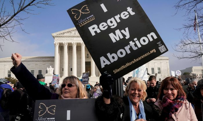 Pro-life marchers rally at the Supreme Court during the 46th annual March for Life in Washington on Jan. 18, 2019. (Joshua Roberts/Reuters)