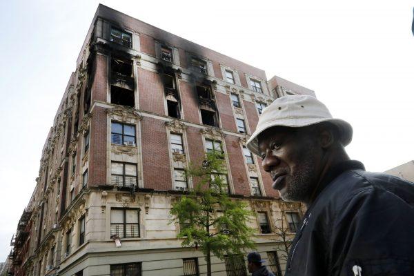 Harlem apartment fire New York 4