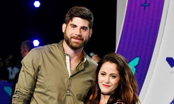 David Eason (L) and Jenelle Evans attend the 2017 MTV Video Music Awards at The Forum on Aug. 27, 2017, in Inglewood, Calif. (Frazer Harrison/Getty Images)