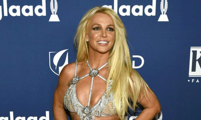 Britney Spears arrives at the 29th annual GLAAD Media Awards in Beverly Hills, Calif., on April 12, 2018.  (Chris Pizzello/Invision/AP)
