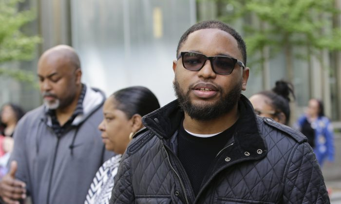 Christian Dawkins stands outside federal court in N.Y., on May 8, 2019. (Frank Franklin II/Photo via AP)