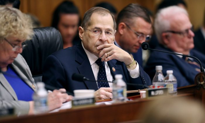 House Judiciary Committee Chairman Jerrold Nadler (D-N.Y.) presides over a mark-up hearing to determine whether to hold Attorney General William Barr in contempt of Congress on May 8, 2019. (Chip Somodevilla/Getty Images)