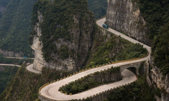 A mountainous road in China. (Lintao Zhang/Getty Images)