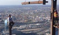 Video: Ironworkers Build Philadelphia Skyscraper