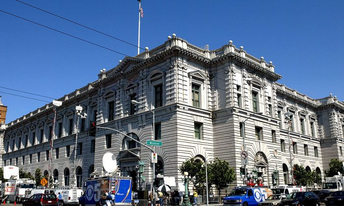 The Ninth Circuit Court of Appeals in San Francisco, California, on on Sept. 22, 2003. On May 7, 2019, the court ruled in favor of the Trump administration's Remain in Mexico policy. (Justin Sullivan/Getty Images)