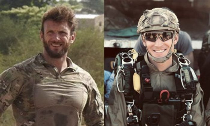 Navy soldiers Cédric de Pierrepont (L), and Alain Bertoncello have been killed in a military operation in the West African nation of Burkina Faso that freed four people from the U.S., France and South Korea who were kidnapped in neighboring Benin on May 10, 2019. (French Army via AP)