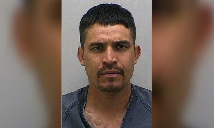 A mugshot of Jose Evis Quintana on April 17, 2017. He was arrested on a warrant for domestic violence and soon deported to Mexico. (Douglas County Sheriff's Office)