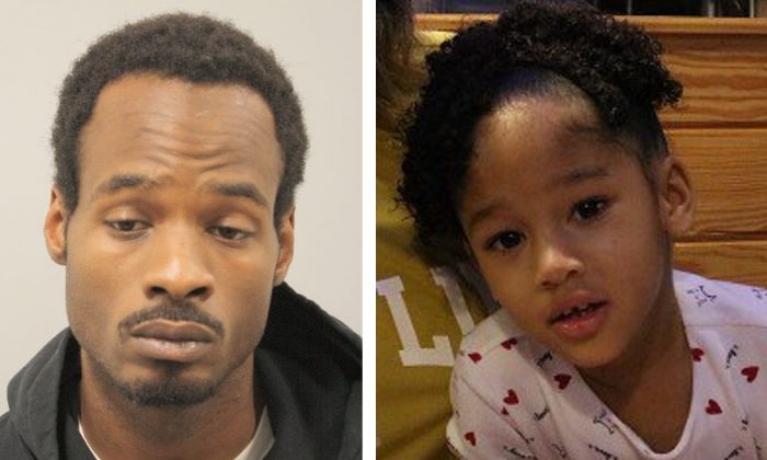 Derion Vence (L), the primary caregiver of Maleah Davis (R). (Houston Police Department)