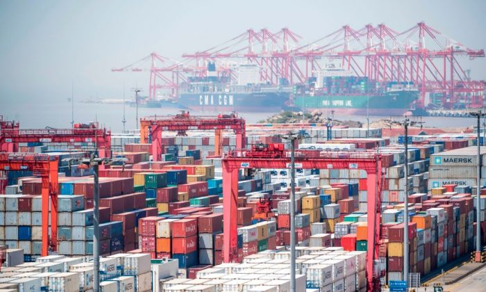 The Yangshan Deep-Water Port in Shanghai, China, on April 9, 2018.   JOHANNES EISELE/AFP/Getty Images