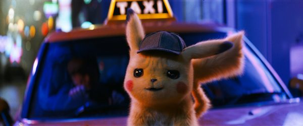"The character Detective Pikachu, voiced by Ryan Reynolds, in a scene from ""Pokemon Detective Pikachu."