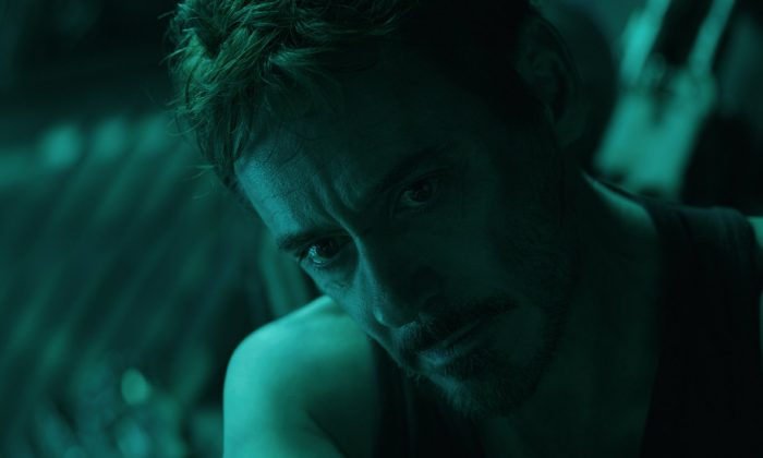 "Robert Downey Jr. in a scene from ""Avengers: Endgame."" (Disney/Marvel Studios via AP)"