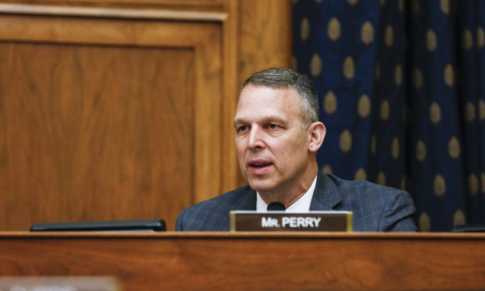"Rep. Scott Perry (R-Pa.) at the House hearing on ""Smart Competition: Adapting U.S. Strategy Toward China at 40 Years"" on Capitol Hill on May 8, 2019. (Jennifer Zeng/The Epoch Times)"