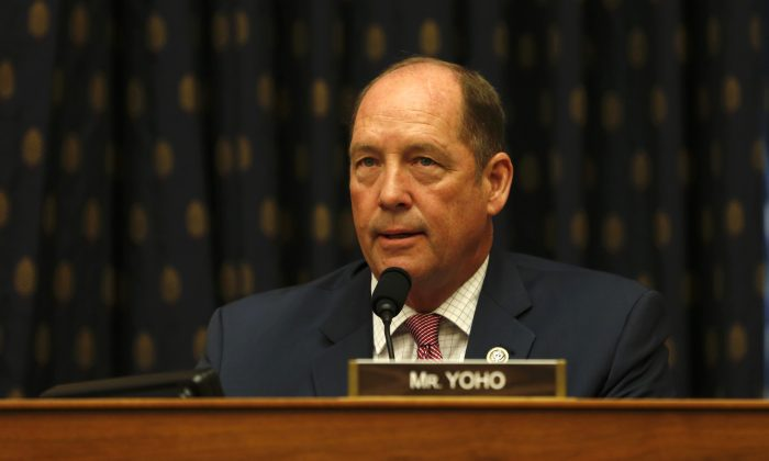Rep. Ted Yoho at the hearing Smart Competition: Adapting U.S. Strategy Toward China at 40 Years in Washington on May 8, 2019. (Jennifer Zeng/The Epoch Times)