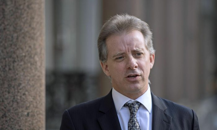 Christopher Steele, former British intelligence officer in London where he has spoken to the media for the first time on March 7, 2017. (Victoria Jones/PA via AP)