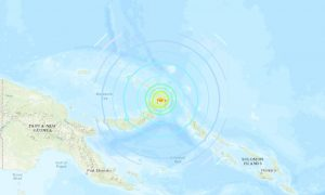 Strong Earthquake Hits Near Papua New Guinea