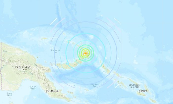 A tsunami warning was issued after a powerful, 7.7 magnitude earthquake struck off the coast of Papua New Guinea. (USGS)