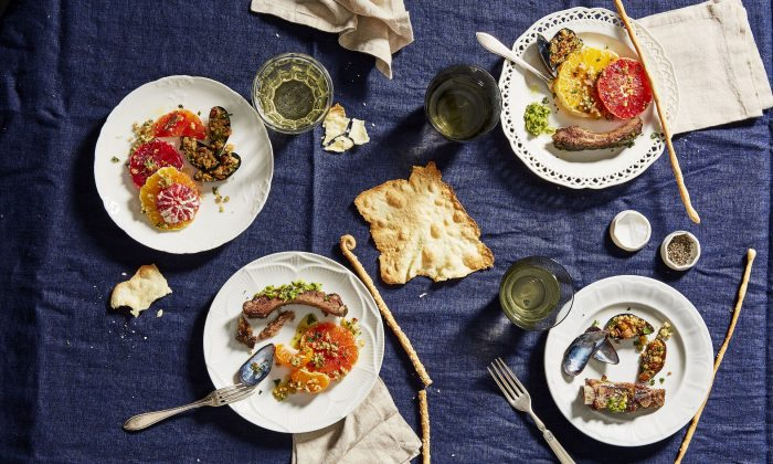 For casual, no-fuss entertaining, let guests graze on an antipasti spread. (Linda Pugliese)