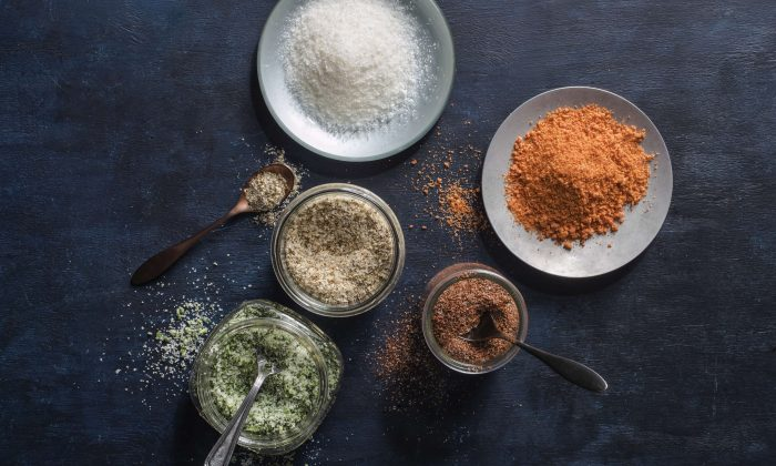 Flavored salts, spiked with anything from fresh herbs to liquid smoke, are easy—and cheaper—to make at home. (Courtesy of America's Test Kitchen)