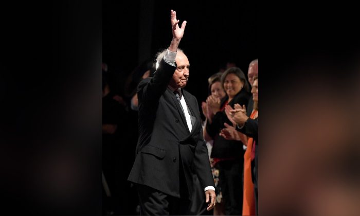 Former Prime Minister Paul Keating waves to the crowd during the Labor Campaign Launch in Brisbane, Australia, on May 5, 2019. The federal election will be held on May 18, 2019. (Bradley Kanaris/Getty Images)