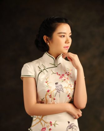 A modern qipao. The qipao has a long history and has undergone many permutations. (Shutterstock)