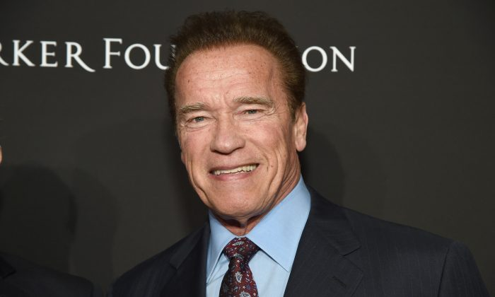 Arnold Schwarzenegger attends the 7th Annual Sean Penn & Friends HAITI RISING Gala benefiting J/P Haitian Relief Organization in Hollywood, Calif., on Jan. 6, 2018.  (Michael Kovac/Getty Images for for J/P HRO Gala)