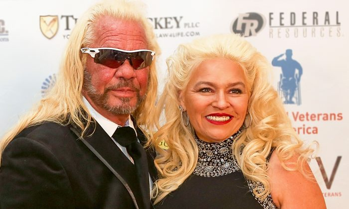 "Duane 'Dog the Bounty Hunter"" Chapman (L) and Beth Chapman attend the Vettys Presidential Inaugural Ball at Hay-Adams Hotel in Washington, on Jan. 20, 2017. (Teresa Kroeger/Getty Images)"