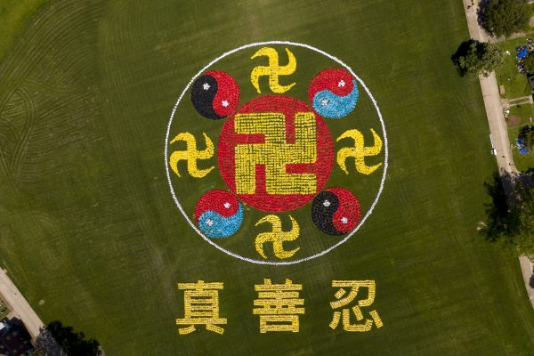 Character formation closer up Falun Emblem