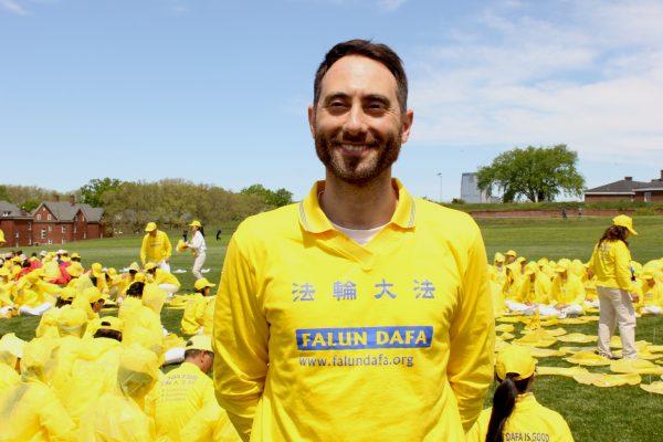 Fabio Cotroneo, Falun Gong practitoner
