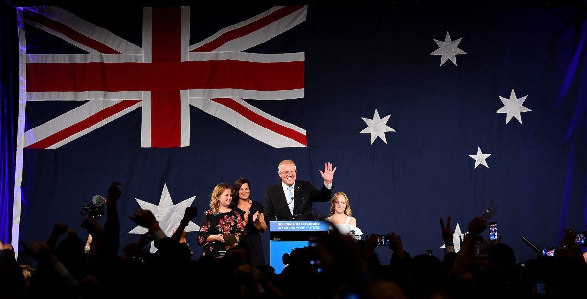 Australia's Prime Minister Scott Morrison and family