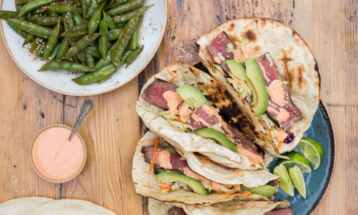 Salty, spicy, creamy, and crunchy, these tacos are the perfect excuse to dust your grill off after months of wintry neglect. (Caroline Chambers)