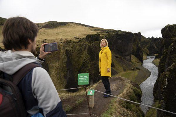 Fjadrarglijufur in Iceland closed 1
