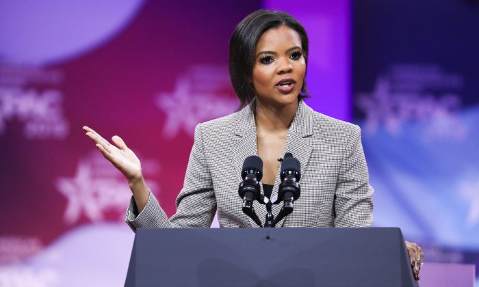 Candace Owens from Turning Point USA at the CPAC convention in National Harbor, Md., on March 1, 2019. (Samira Bouaou/The Epoch Times)
