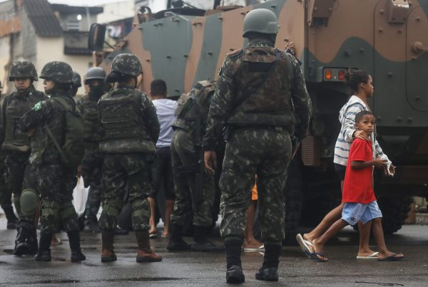 Brazilian Armed Forces Conduct Large Operation Against Rio Favela Gangs
