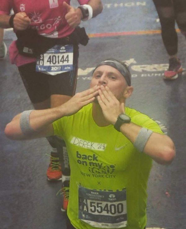 Drescher during the 2017 New York City Marathon