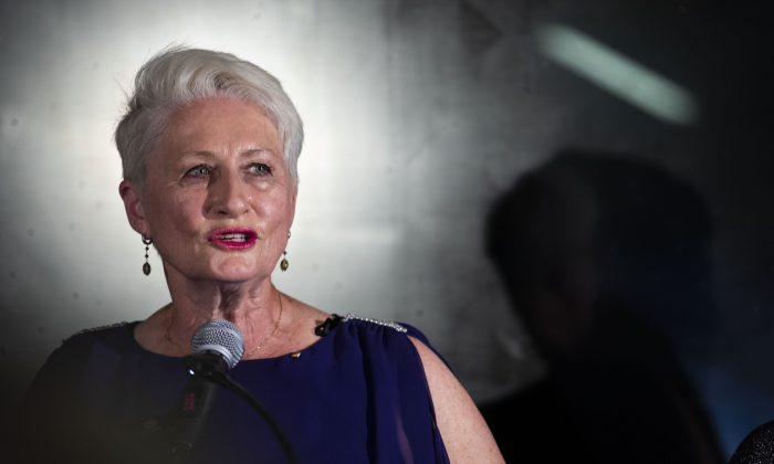 Then independent candidate Dr. Kerryn Phelps delivers a speech to her team and the media at the North Bondi Surf Lifesaving Club in Sydney, Australia, on Oct. 20, 2018. (Cole Bennetts/Getty Images)