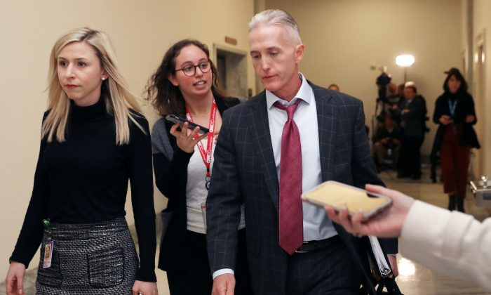 House Oversight and Government Reform Committee Chairman Trey Gowdy (R-S.C.) leaves a closed-door hearing where his committee and the Judiciary Committee heard from Former FBI Director James Comey in the Rayburn House Office Building on Capitol Hill in Washington. (Chip Somodevilla/Getty Images)